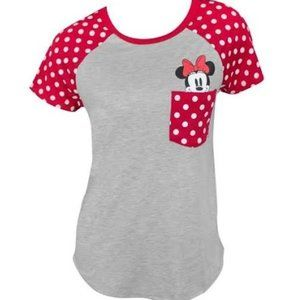 Disney Juniors Minnie Mouse Top Grey Small